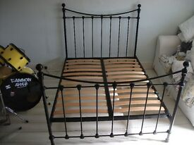 Laura Ashley Hastings Double Bed Frame - Black