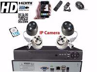 4 full HD Outdoor Cameras 8Ch AHD NVR CCTV System 1TB Complete Kit Plug&Play P2Psystem