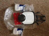 Full face dust/vapour mask respirator