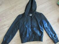 GIRLS LEATHER JACKET age 7-8 IMMACULATE - Now reduced to £4.50!