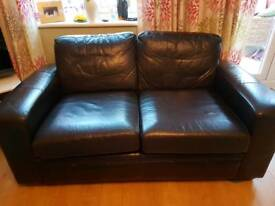 Next leather 2 seater sofa for sale