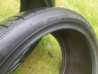FALKEN FK453 275 30 20 pair used tyres 5mm