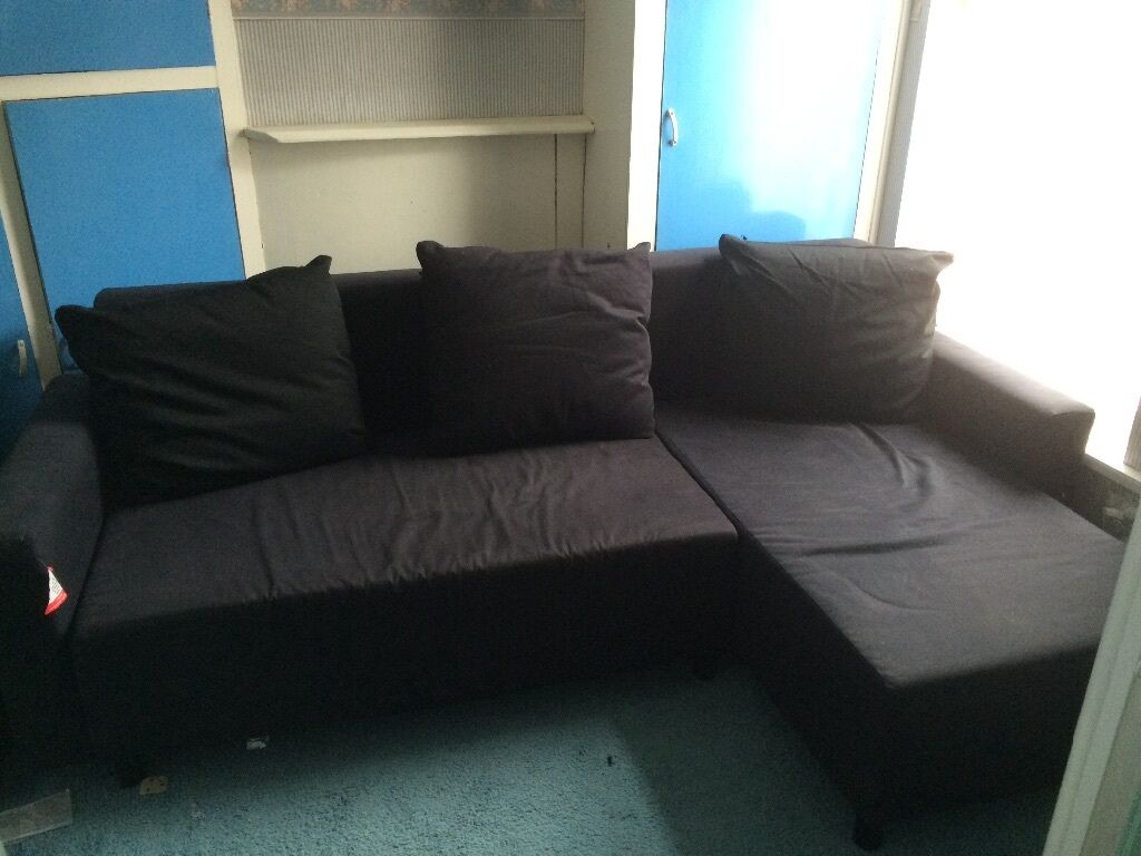 Ikea Lugnvik Sofa Bed With Storage Black Reduced To 100 In Eastleigh Hampshire Gumtree