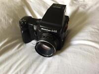 MAMIYA 645 Pro Kit Package, Body, Lens, AE Prism, Winder 80mm, 150mm, 45mm