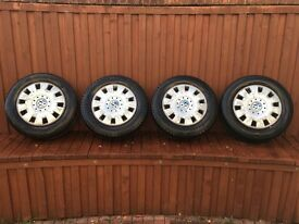 "Vw T5 Steel wheels 16"" with trims"