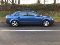 2001 Audi A4 2.0 Sport 4dr petrol manual good condition for year, credit cards accepted.
