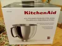 New and genuine kitchenAid stainless steel bowl 4.8l