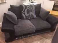 Black and Grey Sofa, 2 seater in great condition