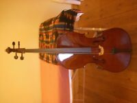 """Full Size Sound Post """"PRIMA 100"""" Cello with Bow and Padded cover"""