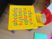 Children's ABC table and chair