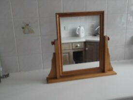 Pine rectangular dressing table mirror