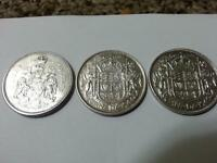 FOR SALE CANADA SILVER COINS AND OTHER SILVER COINS