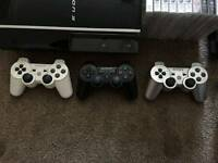PS3 Console with 3 Controllers and lots of games