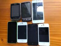 Smart phones for spare/repairs