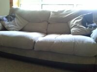 dfs 1 chocolate stella 3 seater sofa and 1 chocolate stella chair. Both like new.