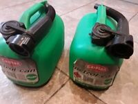 2 x Petrol Containers - (5L Unleaded) COLLECT KIRKBY IN ASHFIELD NOTTS NG17