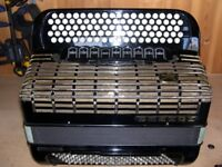Hohner Atlanta 145, 4 Voice, Musette Tuned, 5 Row, C System, 120 Bass, Chromatic Accordion.