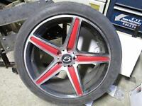 Aluminum rims 17 inch Barrie with 215/45ZR17 91W TIRES