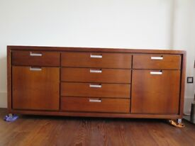 Long brown wood sideboard, excellent condition
