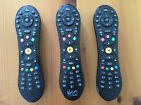 3 x VirginMedia TIVO Remote Controls