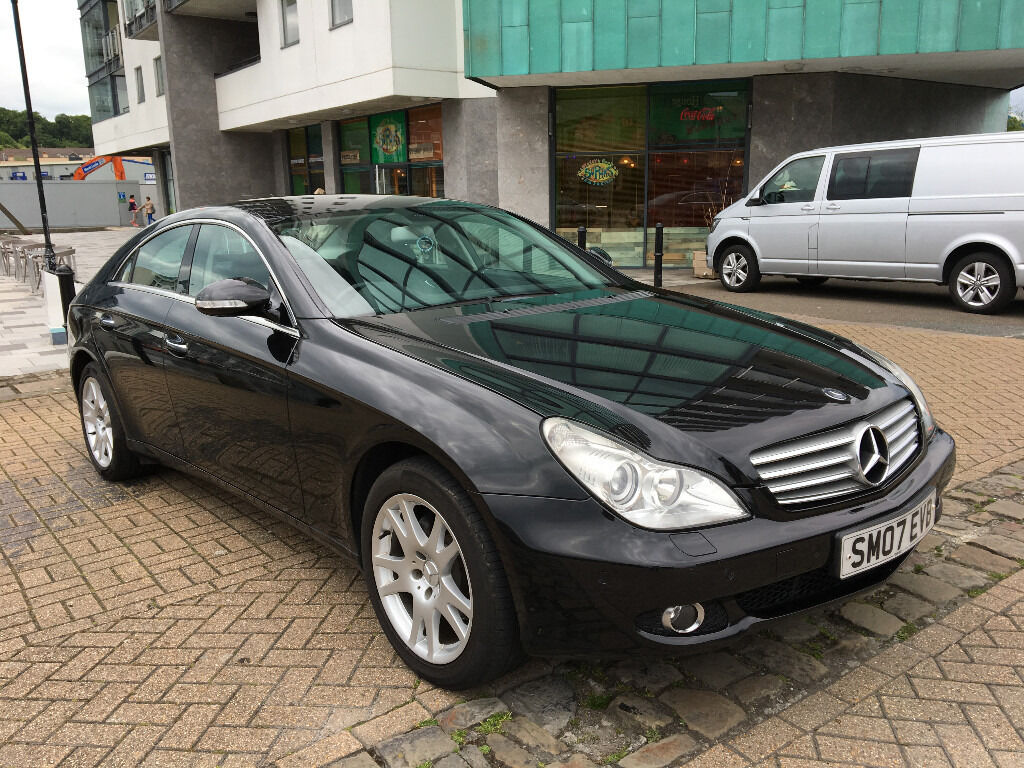2007 mercedes cls 320 cdi 7 g tronic black f s h 4x new tyres low mileage in plymouth. Black Bedroom Furniture Sets. Home Design Ideas