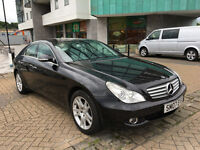 2007 MERCEDES CLS 320 CDI 7-G TRONIC BLACK, F/S/H, 4x NEW TYRES, LOW MILEAGE