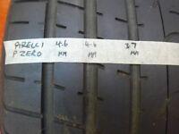 245*45*18 Tyres. PAIR. Pirelli P Zero (3.7mm + tread) & Continental ContiSport (3.3mm + tread)