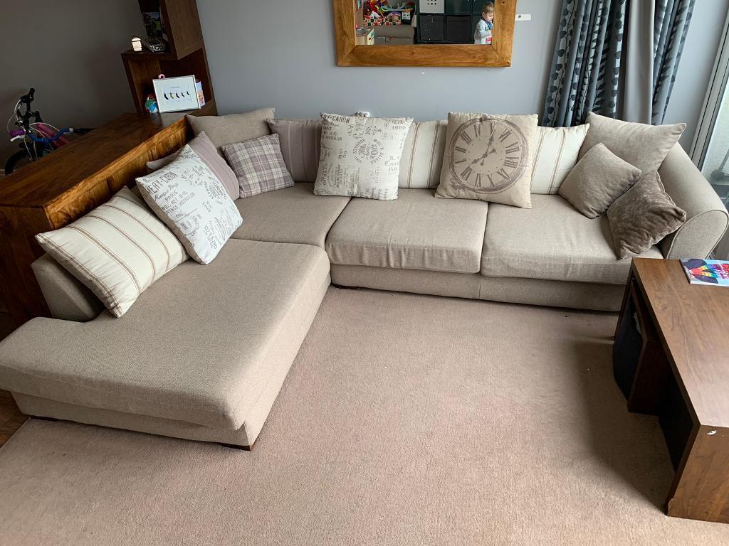 Large Dfs Explorer Right Hand Corner Sofa In