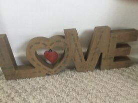 Wooden love ornament