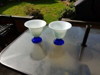 Very Heavy Blue & White Vases