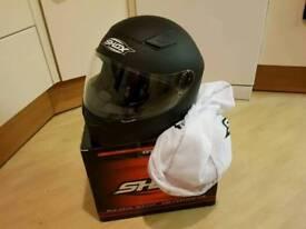 Motorbike helmet black size M 56/58