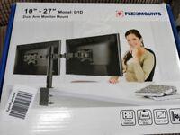 Computer Dual Monitor Desk Clamp Bracket