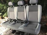 VW T5 Transporter Triple Rear Seats
