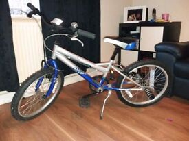 boys blue and silver bike
