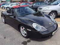 2001/51 PORSCHE BOXSTER 3.2 986S CONVERTIBLE TIPTRONIC S 2 DOOR BLACK,LOW MILEAGE GREAT CONDITION