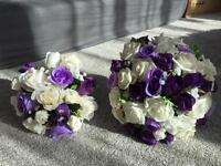 Silk flower bouquets