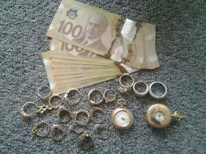 $ Cash for gold jewelry even used or broken gold, all scrap gold
