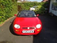 1996 Red MGF Convertible