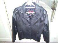 Black ladies leather jacket size 16, Excellent condition.