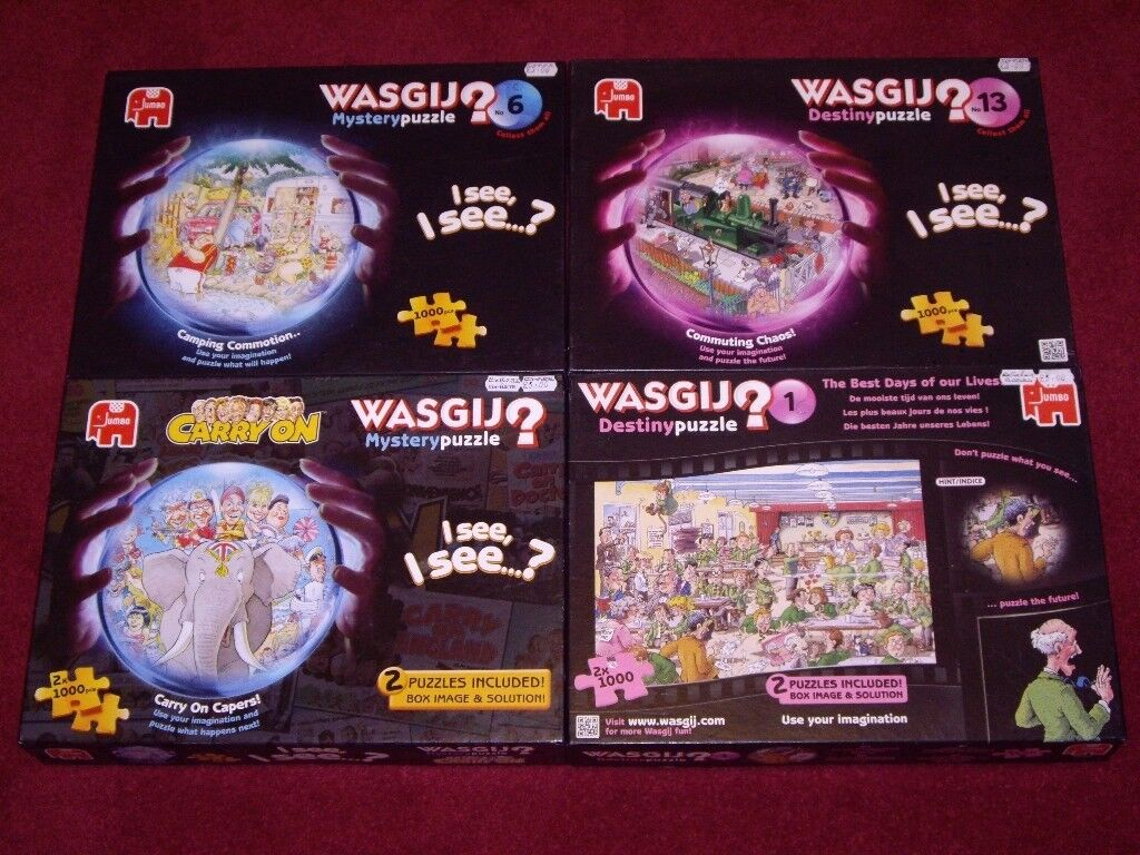 WASGIJ PUZZLES ALL COMPLETE IN VERY GOOD CLEAN BOXES .
