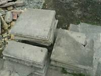 Broken paving slabs - FREE