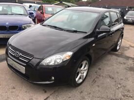 2009/09 KIA CEE'D 2.0 CRDI SPORT HATCHBACK 5 DR BLACK,HALF LEATHER,HIGH SPEC,LOOKS AND DRIVES WELL