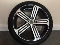 "1x Genuine VW Golf R Cadiz 18"" Alloy Wheel and tyre"
