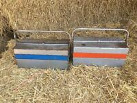 Two metal tool boxex