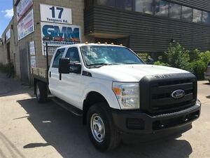 2012 Ford F-350 XL Crew Cab Flat Bed 8' Deck 4X4 Gas