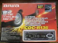 AIWA CDC-R136 CAR RADIO TUNER RECEIVER plus CD PLAYER