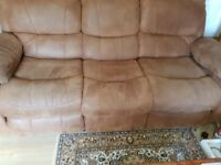 3+2 seater faux suede sofas