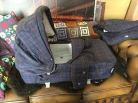 Vintage Silvercross Wayfarer Carrycot & Seat Cover