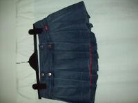 Miss Sixty short denim pleated skirt size small