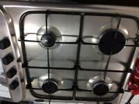 Stainless steel Hotpoint 60cm by 50cm gas hub good condition with guarantee
